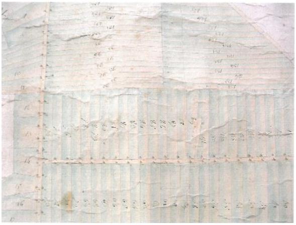 Division des communaux de Chacusard, hameau des Marches 18 thermidor an VI. ADS, carton-plan