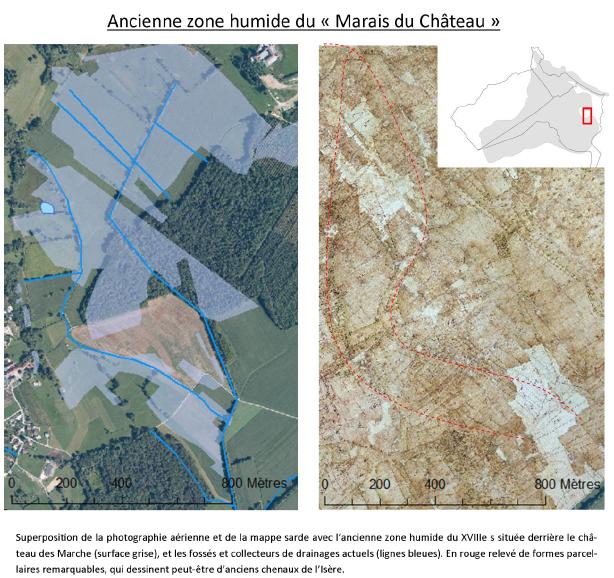 Evolution du Marais du Château