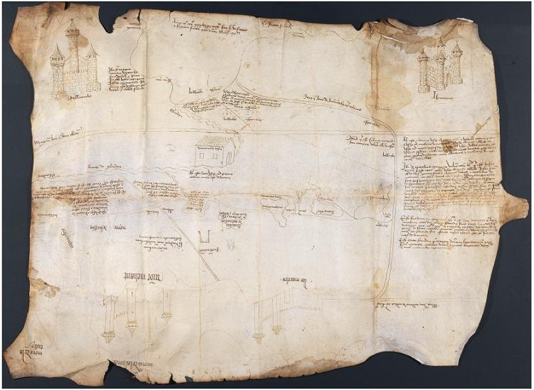 La carte de Mathieu Thomassin (1436) conservée aux Archives départementales de l'Isère, cote B 3274