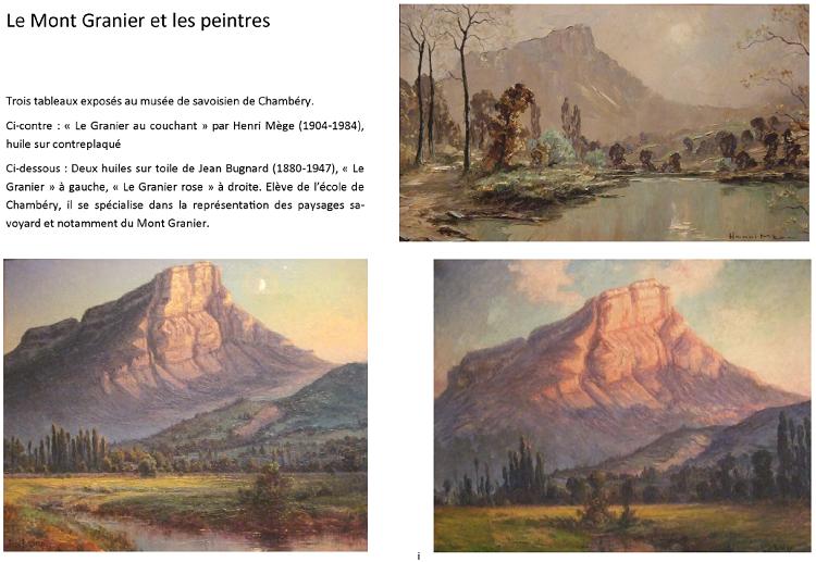 Le Mont Granier et les Peintres
