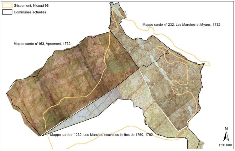 Localisation des mappes sardes étudiées