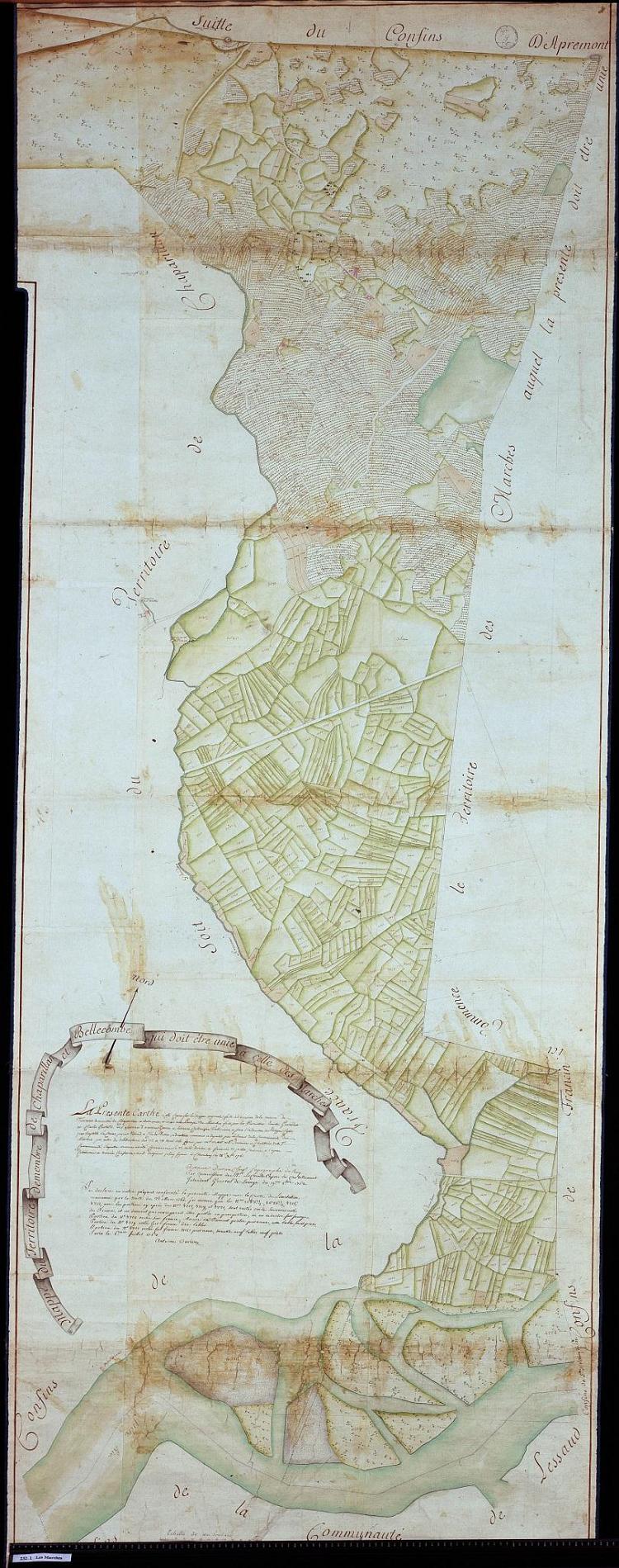 Mappe 232 bis Nouvelles limites des Marches de 1760, 1762