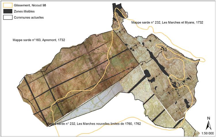 Qualité des mappes sardes étudiées