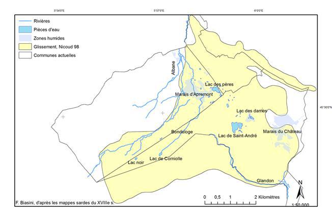 Réseau hydrographique du XVIIIe s