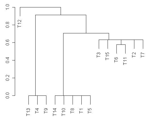 Dendrogramme de similarité