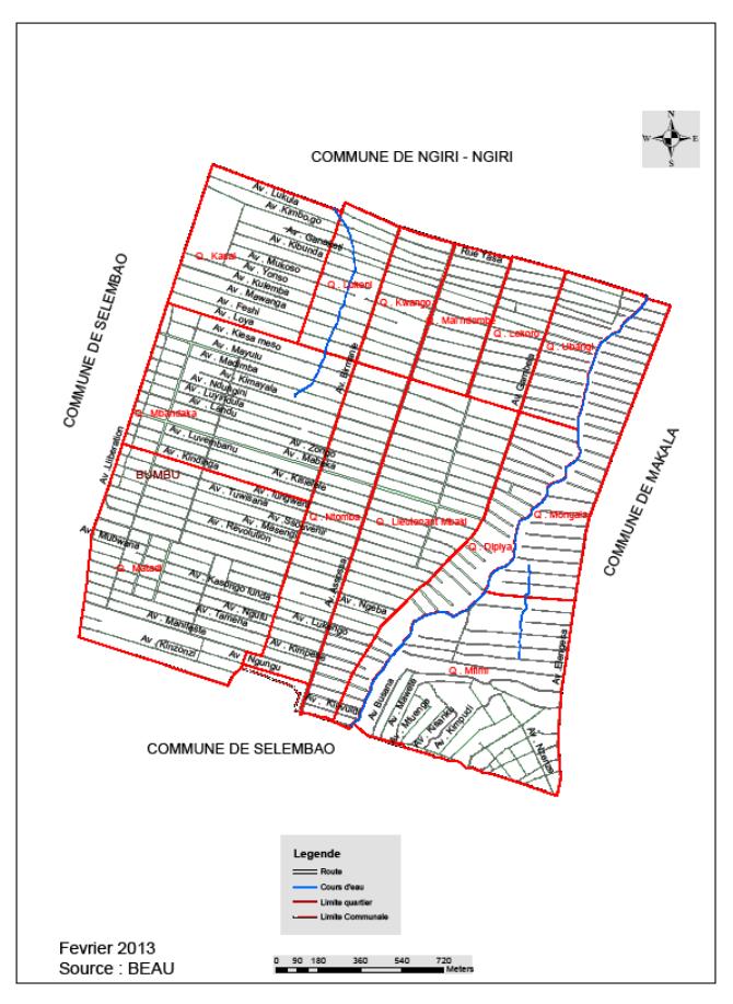 Carte Administrative de la Commune de Bumbu