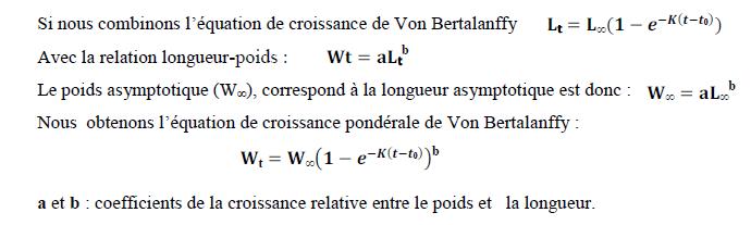 Croissance pondérale (Sparre et Venema, 1996)