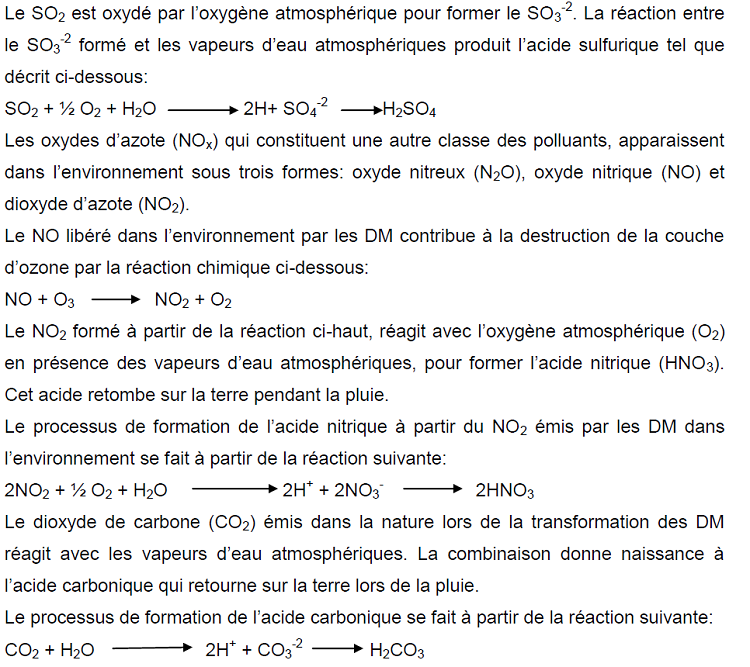 Equation bilan