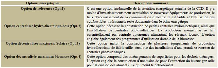 options énergétique dans une Collectivité territoriale