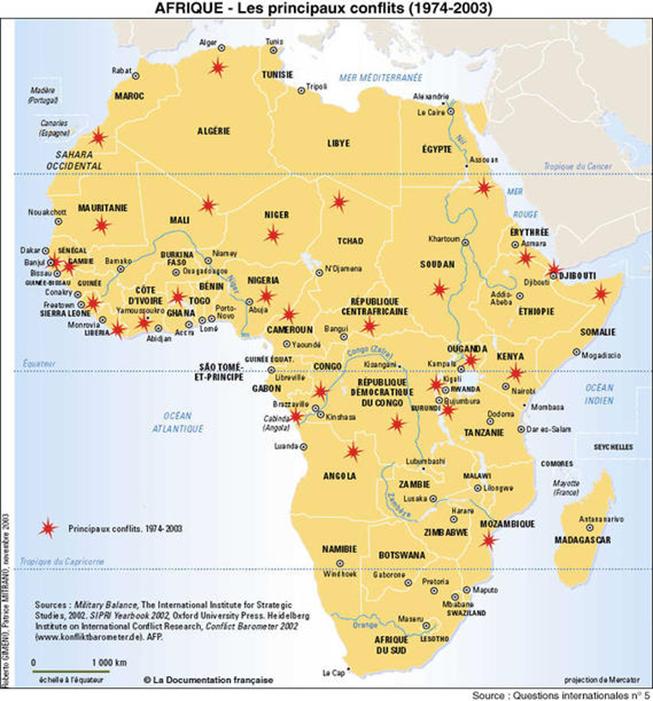 Cartographie des conflits armés en Afrique