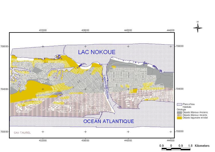 Catre Géologique de la Ville de Cotonou