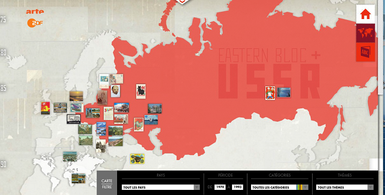 Carte interactive de l'Europe extraite du webdoc Adieu Camarades