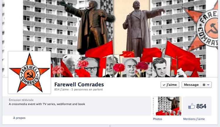 La page facebook d'Adieu Camarades