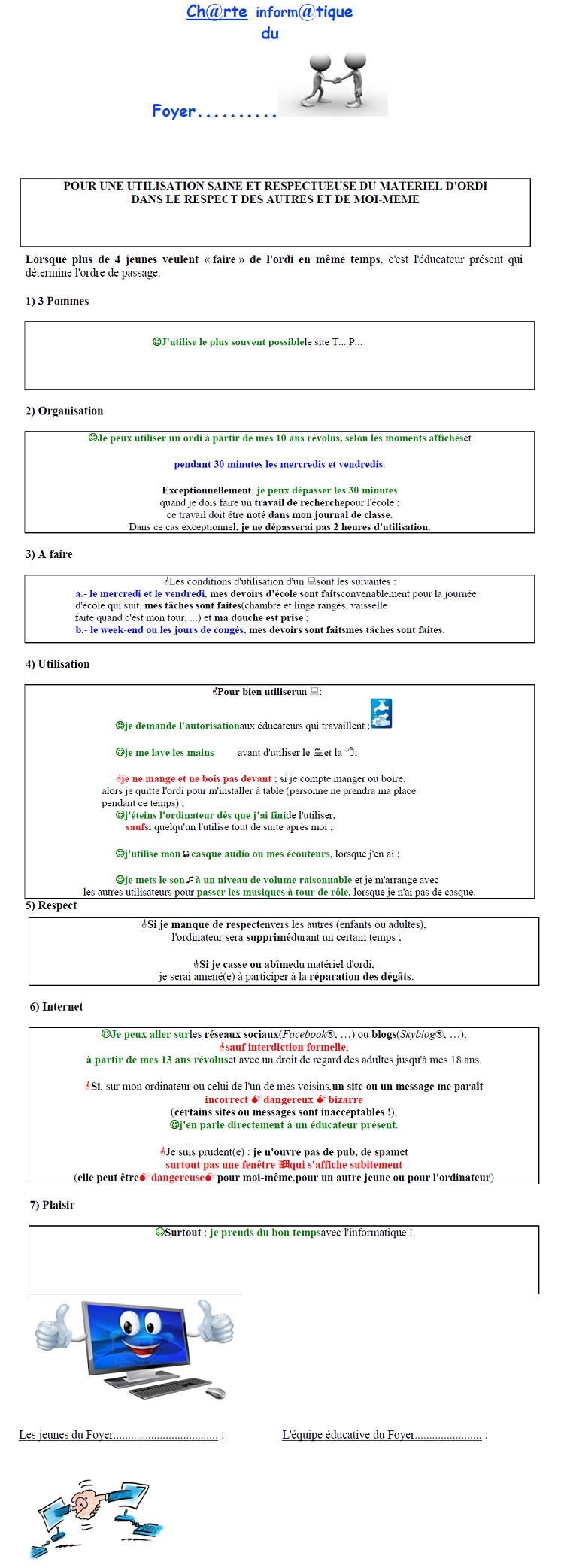Charte informatique