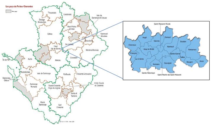 Pays de la Région Poitou-Charentes
